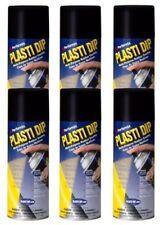 6 Pack Performix Plasti Dip Black Aerosol 11 oz Matte. Rubber Coating Spray Cans