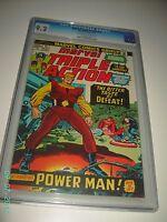 MARVEL TRIPLE ACTION #15 CGC 9.2 NEAR MINT - INTRODUCING POWER MAN 1973 BLUE LAB