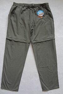 Columbia Fishing Pants Convertible Mens Size 1X Green Omni-Shade UPF ... d2115b8771014