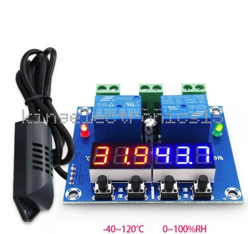 1x DC 12V Dual Digital LED Temperature /& Humidity Control Thermostat Probe