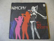 """PIER BOZZETTI""""ARMONY-disco 45 giri PHILIS Italy 1973""""PROG/SEXY COVER"""