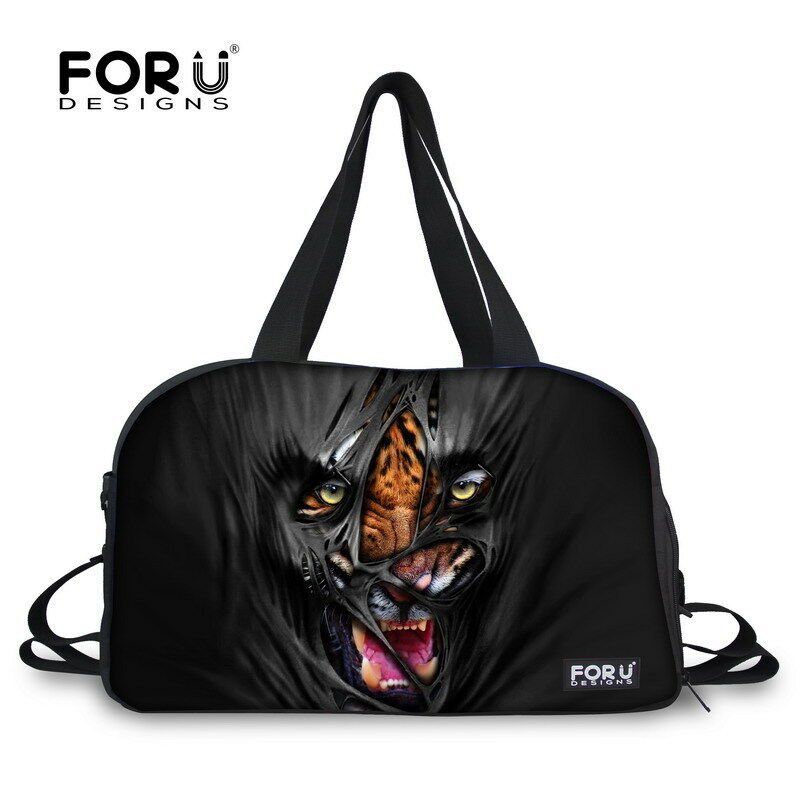 Cool Animal Weekend Tote Travel Yoga Bag Women Larger Gym Sport Bag Duffel Men