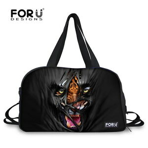 a3dc2ce71df5 Cool Animal Weekend Tote Travel Yoga Bag Women Larger Gym Sport Bag ...