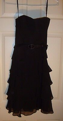 PROM~Jr's~WHITE/HOUSE/BLK/MARKET/BLK/RUFFLED/DRESS!(0) N/W/T! $168.00 NICE!