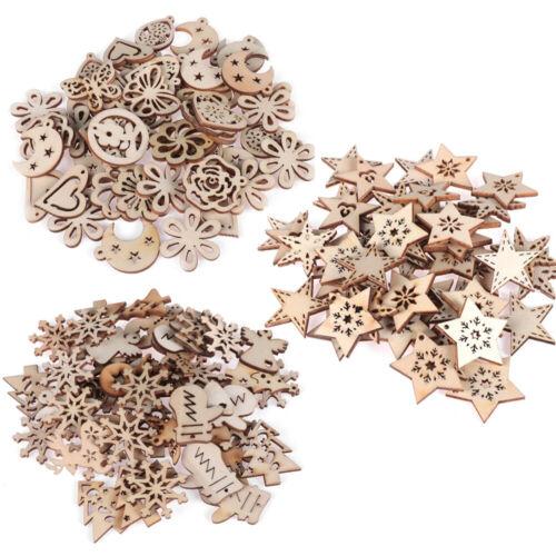 DIY Crafts Decoration Pendant Wood Piece Embellishments Ornaments Scrapbooking
