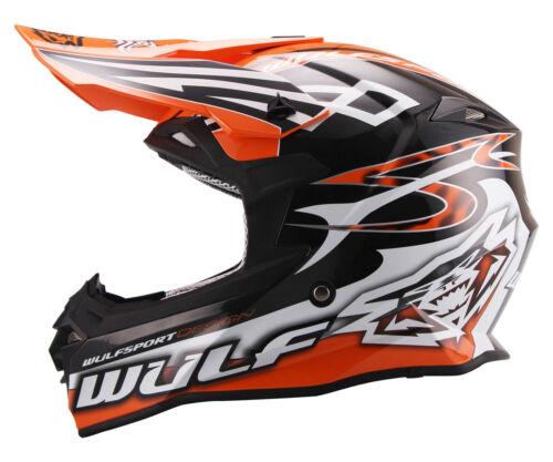 All Sizes Motocross Enduro Cr Yz Kx Sx Rm Crf Mx New Wulfsport Orange Helmet
