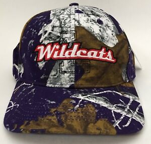 8942f5d56a9 Image is loading Wildcats-Richardson-Mothwing-Camo-Hat-Ball-Cap-Adjustable