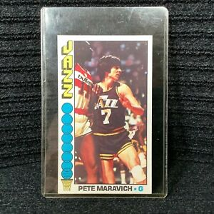 Topps Pistol Pete Maravich New Orleans Jazz #60 Oversize Card In Very Nice Shape