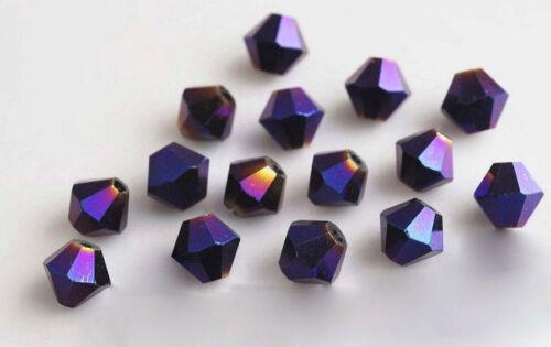 4mm 6mm 8mm Czech Crystal Clear Bicone Jewelry Diy Glass Rhinestone Spacer Beads