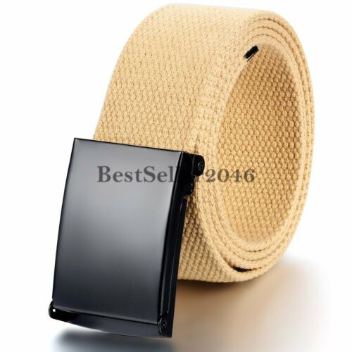 Military Web Canvas Waist Belt Men/'s Women/'s Adjustable Slider Buckle Waistband