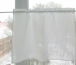 Details about Curtains Cafe Curtains Washed Linen Curtains Kitchen Curtains  Shabby Chic Curtai