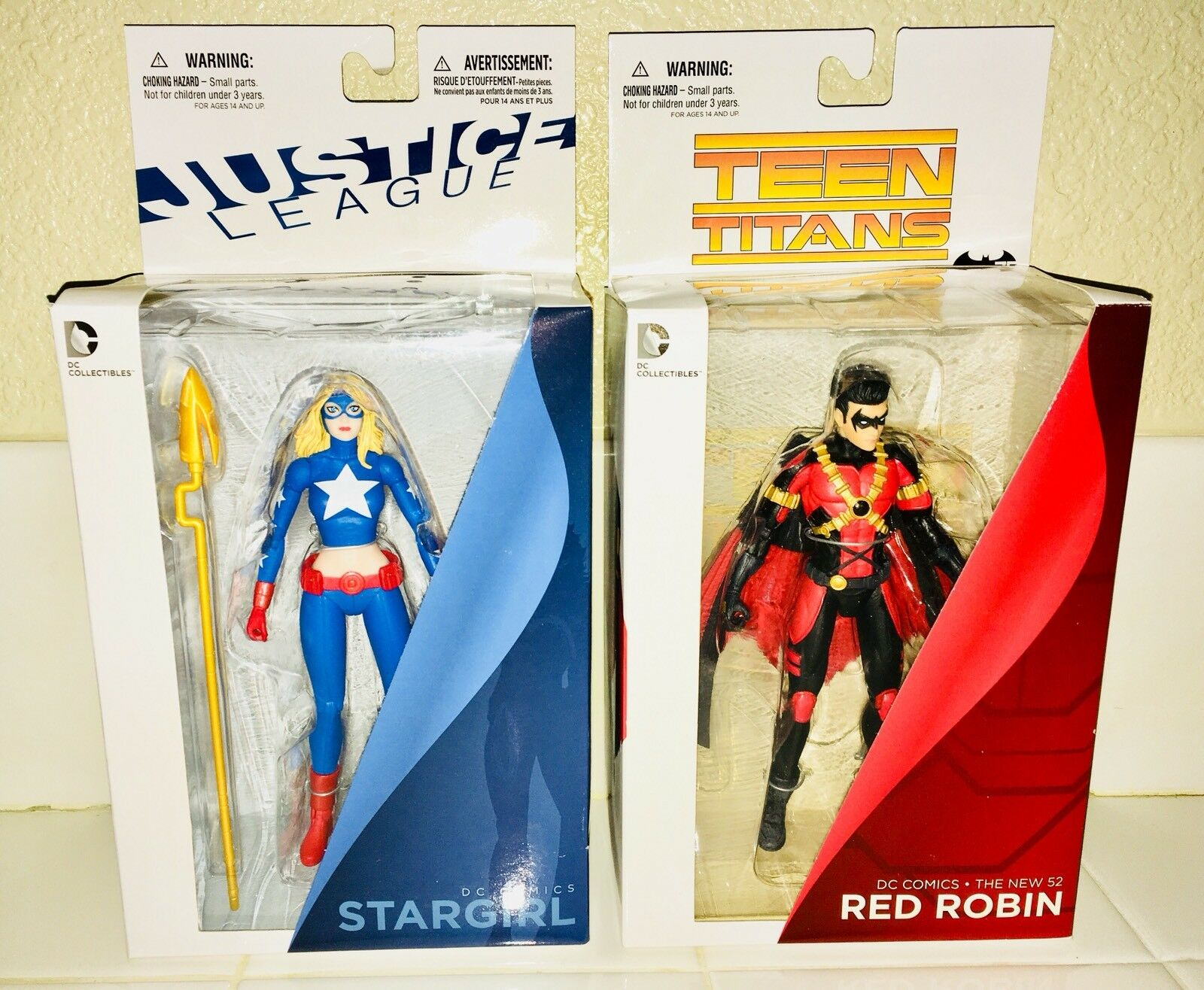 DC COMICS TEEN TITANS ROBIN AND JUSTICE LEAGUE STARGIRL BRAND NEW UNOPENED