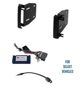 Double Din Car Stereo Radio Install Dash Kit Combo for some Chrysler Dodge Jeep