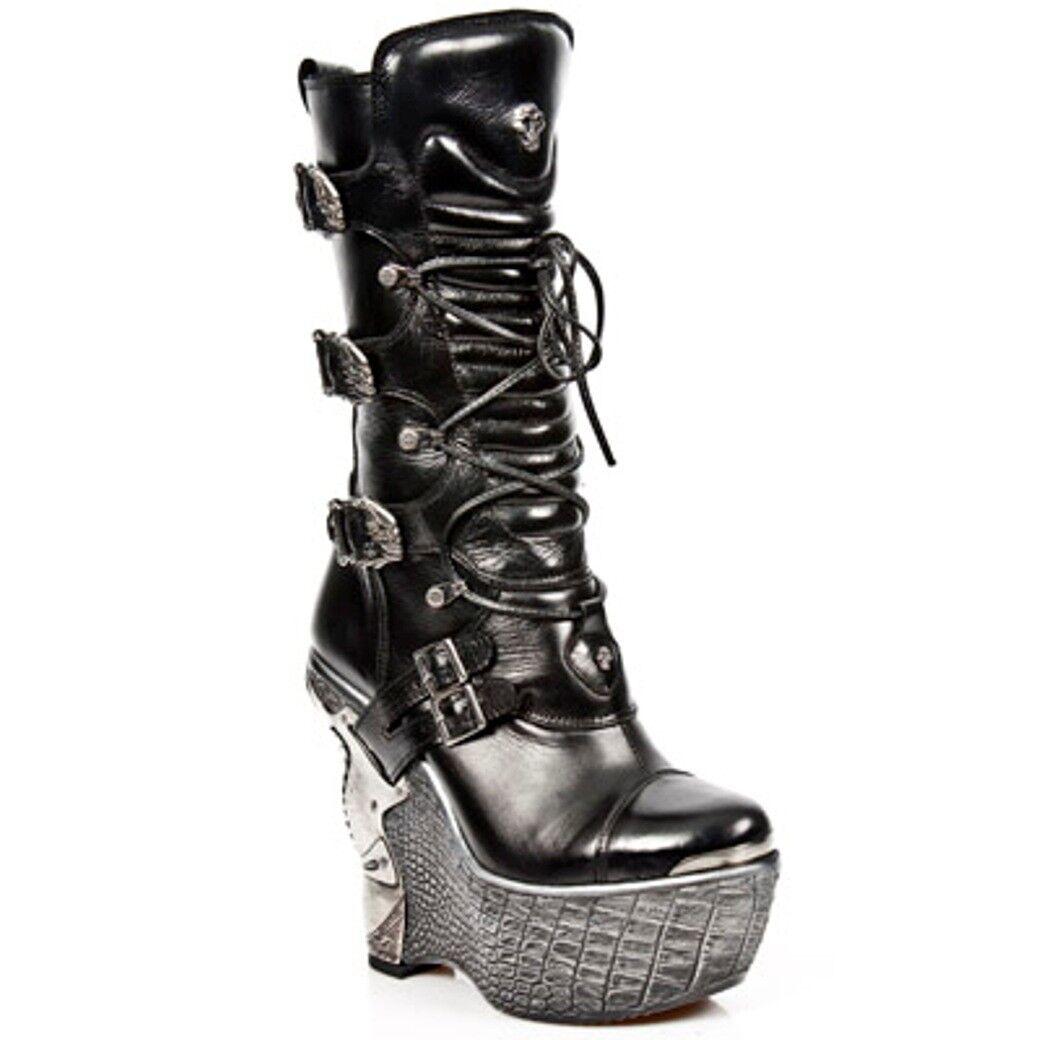 Newrock NR M.PZ003 S4 Nero-New Donna Rock Boots-Da Donna Nero-New 50ac14