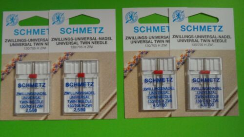 4 Twin NeedleDouble Needle for Sewing Machines 4,0 2, 5 mm Strength 80 and 100