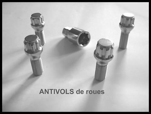 ECROUS ANTIVOL DE ROUE CITROEN XANTIA XM ZX 12x125