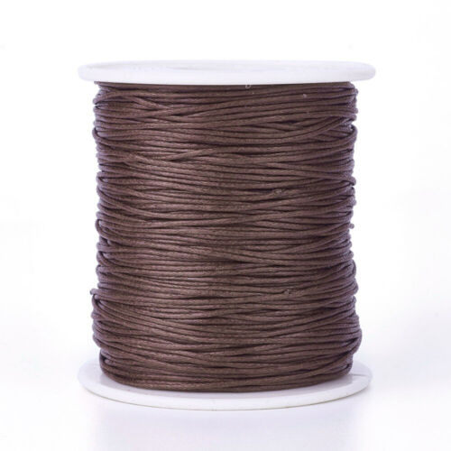 10m Waxed Cotton Thread Cords cord beading string 1mm AUS Seller Brown