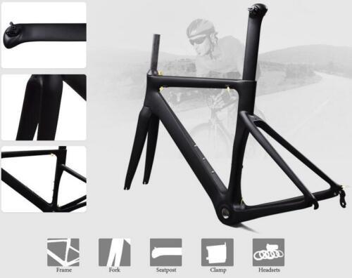 Carbon 700C Racing Road Bike Bicycle Frame 48 51 54 56cm 3K Matte Frame set