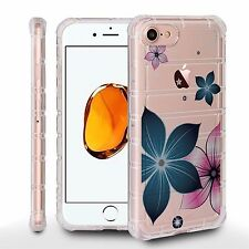 Air Cushion Shield For Apple iPhone 7 Crystal Clear Cover SPRING FLOWERS