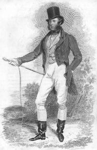 HantsLord Druck antikes altes SouthamptonIn Jagdkleidung Bild der 1837 b7vf6Ygy