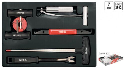 Kfz Ausbau Autoscheiben Werkzeug Set 7-tlg für geklebte Windschutzscheibe