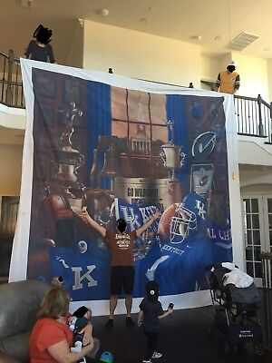 """KENTUCKY Football /""""Wildcat Traditions 2/"""" framed print /& coin by Greg Gamble"""