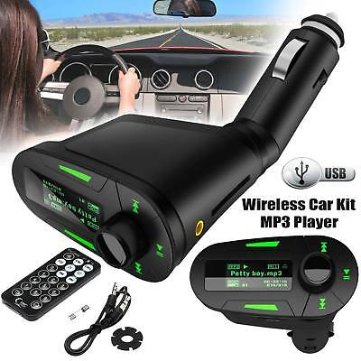 New Car FM Wireless Radio Transmitter Audio MP3 Player USB SD For Mobile Phone