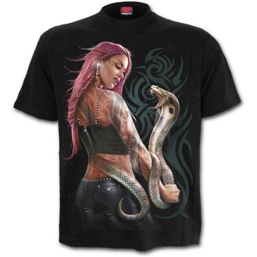 Spiral Direct SERPENT TATTOO T-Shirt//Snake//Tribal//Goth//Skull//Halloween//Rock//Top