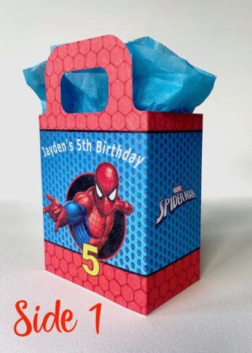 Traiter Boîte x1 Spiderman Fête D/'Anniversaire Sac Personnalisé Faveur