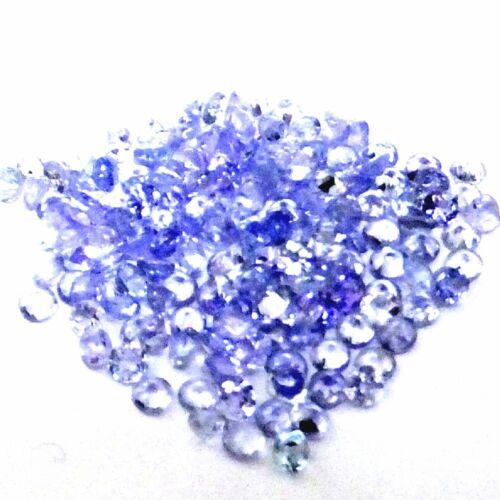Corte redondo Natural suelto 7 piezas Piedras Preciosas Violeta Tanzanita-Lote de 2.1 X 2.1 mm