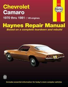 Repair-Manual-Z28-Haynes-24015-fits-75-77-Chevrolet-Camaro
