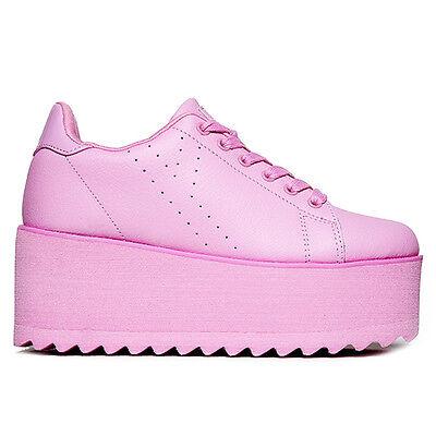 """NIB Y.R.U. YRU Pink """"LALA"""" Platform Sneakers SIZE 7, 8, 10 -SALE"""