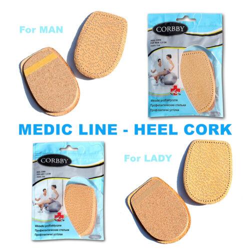 Medic Line-Protection-Talon Chaussures en cuir semelles liège Élégant Pour Femme /& Homme