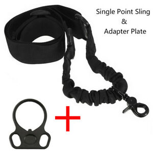 Tactical-1-One-Single-Point-Sling-Plate-Mount-Adapter-Black-for-Rifle-Gun