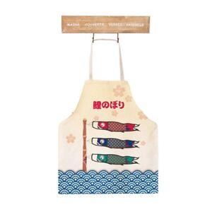 Cute Cartoon Apron Japanese Style Lovely Fish Carp Streamer ApronKoinobori