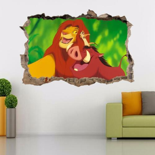 LION KING Simba Smashed Wall Decal Wall Sticker Art Disney Timon Pumbaa H386