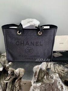Chanel Black Deauville Tote Gold 2020 Gst Grand Shopping Bag 20a New Nwt Rare Ebay