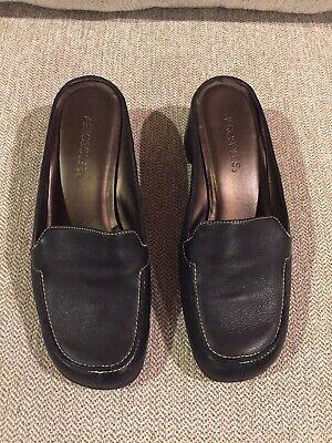 Women's Aerosoles Black Mules Slip On