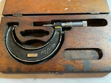 Vintage Jt Slocomb Micrometercollectible Machinist Tools With Wood Box