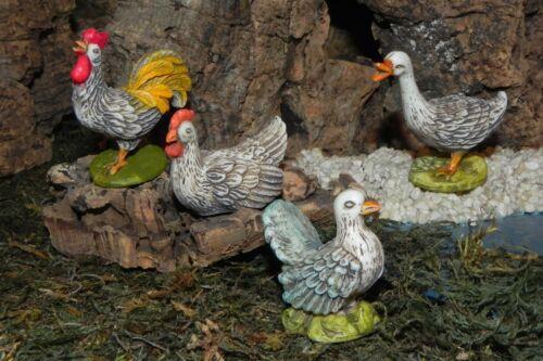 """Euromarchi Animal Figurine Set//4 for 5.5/"""" Nativity Manger Pesebre Animales"""