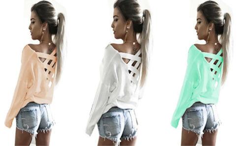 S//M SUPER Damen Tunika Longshirt T-Shirt Criss Cross Back L//XL 653 TRENDY