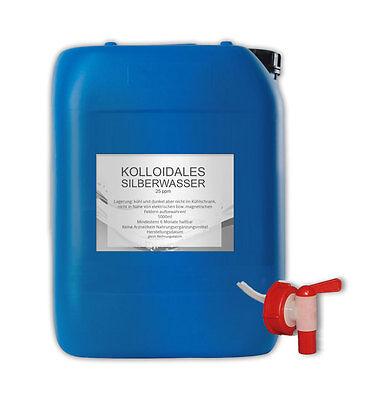 kolloidales Silberwasser 25 ppm im Kanister 5000 ml - colloidal silver water