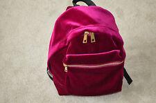 Sandro Pink Velvet Avril Zip Rucksack Backpack Gold Detail Bag Womens