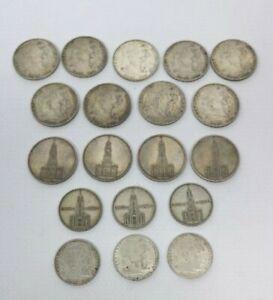 19 Silbermünzen Hindenburg  Garnisonkirche