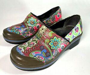 Dansko-Flower-Design-Clogs-Women-039-s-Size-36-US-5-5-6-Floral-Print