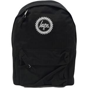 Boys   Girls Hype Plain Black Rucksack Bag - School   Work   Gym ... b64d181f6ce89
