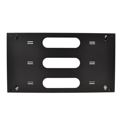 """19/"""" Two Space 6U Steel Wall Mount Hinged Swing Out Patch Panel Bracket 6/"""" Depth"""