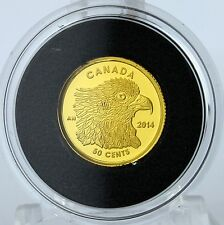 Canada 2014 Osprey – 50-Cent 1/25 oz. Pure Gold Proof Coin -  Mintage: 7,500