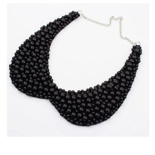 Black Pearl Collar Necklace