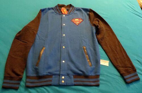 DC COMICS SUPERMAN L LARGE LETTERMANS JACKET NEW